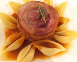 Pancetta rotie, pasta