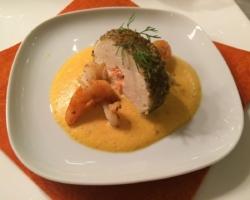 Mousseline de dorade au coeur saumoné
