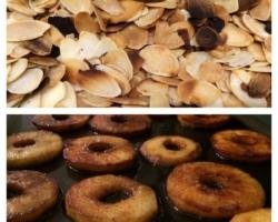 Pommes caramélisées et amandes grillées