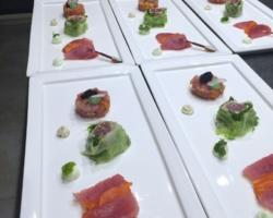 Déclinaison de thon et saumon à la japonaise