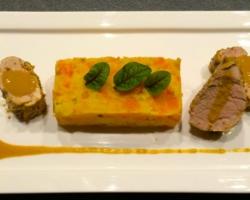 Filet mignon de porc (cuit basse température), purée de carottes