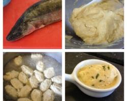 Mini quenelle de sandre, sauce champignon