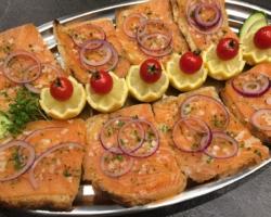 Toast de saumon fumé