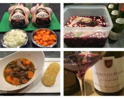 Coq au vin, testé une première fois avec du Gevrey Chambertin (de Sylvie Esmonin, juste superbe) puis avec ce Chorey-les-Beaune