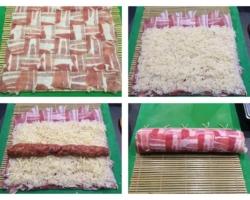 Maki de riz à la viande hachée sauce barbecue
