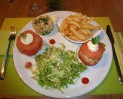 Tomates crevettes frites